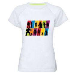 Жіноча спортивна футболка Avengers silhouette