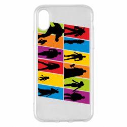 Чохол для iPhone X/Xs Avengers silhouette