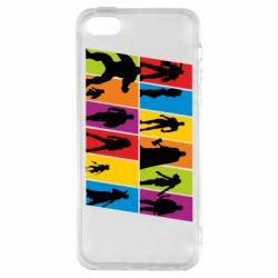 Чохол для iphone 5/5S/SE Avengers silhouette