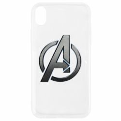Чохол для iPhone XR Avengers Steel Logo