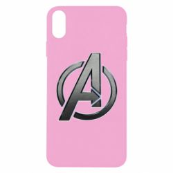 Чохол для iPhone X/Xs Avengers Steel Logo