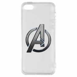 Чохол для iphone 5/5S/SE Avengers Steel Logo
