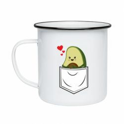 Кружка эмалированная Avocado in your pocket