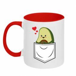 Кружка двухцветная 320ml Avocado in your pocket