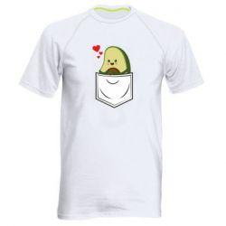 Мужская спортивная футболка Avocado in your pocket