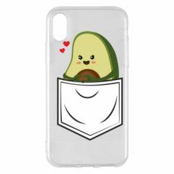 Чехол для iPhone X/Xs Avocado in your pocket