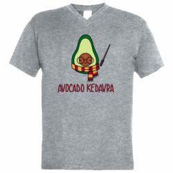 Чоловіча футболка з V-подібним вирізом Avocado kedavra