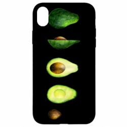 Чехол для iPhone XR Avocado set
