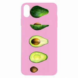 Чехол для iPhone X/Xs Avocado set