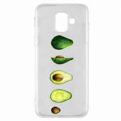 Чехол для Samsung A6 2018 Avocado set