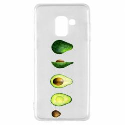 Чехол для Samsung A8 2018 Avocado set