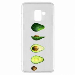 Чехол для Samsung A8+ 2018 Avocado set