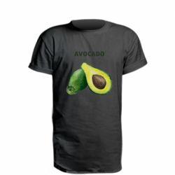 Удлиненная футболка Avocado watercolor