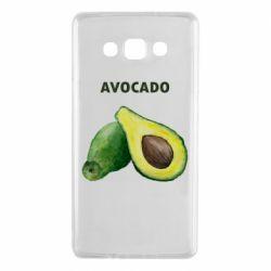 Чехол для Samsung A7 2015 Avocado watercolor