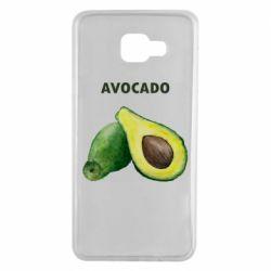 Чехол для Samsung A7 2016 Avocado watercolor