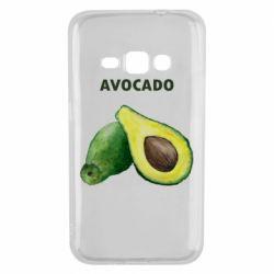 Чехол для Samsung J1 2016 Avocado watercolor