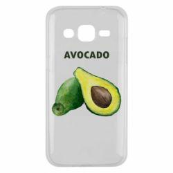 Чехол для Samsung J2 2015 Avocado watercolor