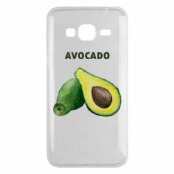 Чехол для Samsung J3 2016 Avocado watercolor