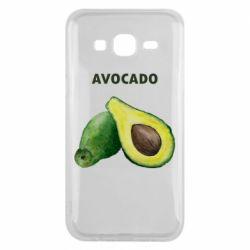 Чехол для Samsung J5 2015 Avocado watercolor