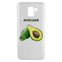 Чехол для Samsung J6 Avocado watercolor