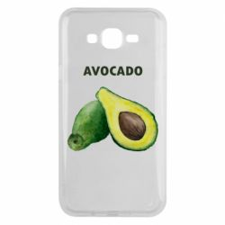 Чехол для Samsung J7 2015 Avocado watercolor