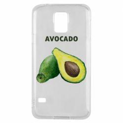Чехол для Samsung S5 Avocado watercolor