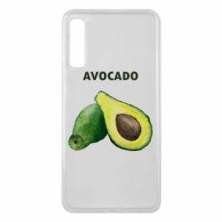 Чехол для Samsung A7 2018 Avocado watercolor