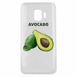 Чехол для Samsung J2 Core Avocado watercolor