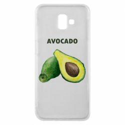 Чехол для Samsung J6 Plus 2018 Avocado watercolor