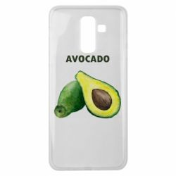 Чехол для Samsung J8 2018 Avocado watercolor