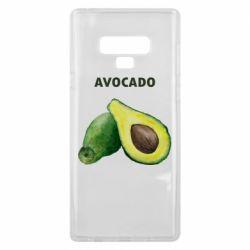 Чехол для Samsung Note 9 Avocado watercolor