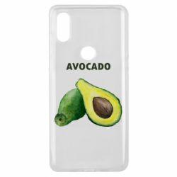 Чехол для Xiaomi Mi Mix 3 Avocado watercolor