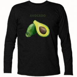 Футболка с длинным рукавом Avocado watercolor