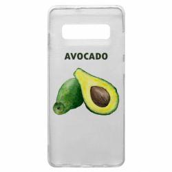 Чехол для Samsung S10+ Avocado watercolor