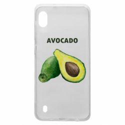 Чехол для Samsung A10 Avocado watercolor