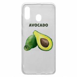 Чехол для Samsung A20 Avocado watercolor