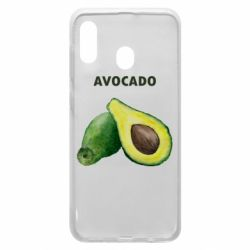 Чехол для Samsung A30 Avocado watercolor