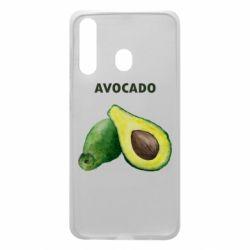 Чехол для Samsung A60 Avocado watercolor