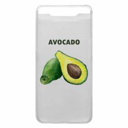 Чехол для Samsung A80 Avocado watercolor