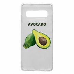Чехол для Samsung S10 Avocado watercolor