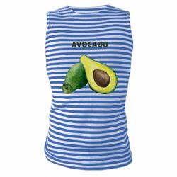 Майка-тельняшка Avocado watercolor
