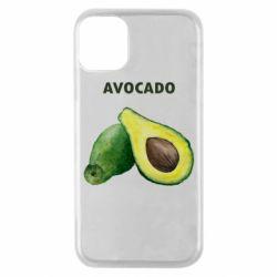 Чехол для iPhone 11 Pro Avocado watercolor
