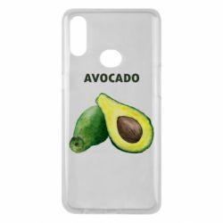 Чехол для Samsung A10s Avocado watercolor