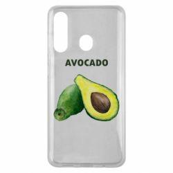 Чехол для Samsung M40 Avocado watercolor