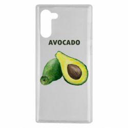 Чехол для Samsung Note 10 Avocado watercolor