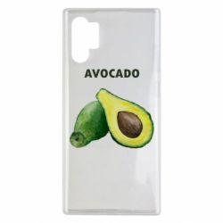 Чехол для Samsung Note 10 Plus Avocado watercolor