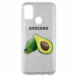 Чехол для Samsung M30s Avocado watercolor