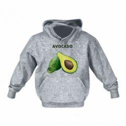 Детская толстовка Avocado watercolor