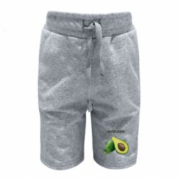 Детские шорты Avocado watercolor