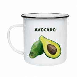 Кружка эмалированная Avocado watercolor